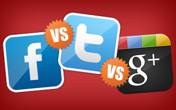 Facebook vs Google+ vs Twitter での使い分け