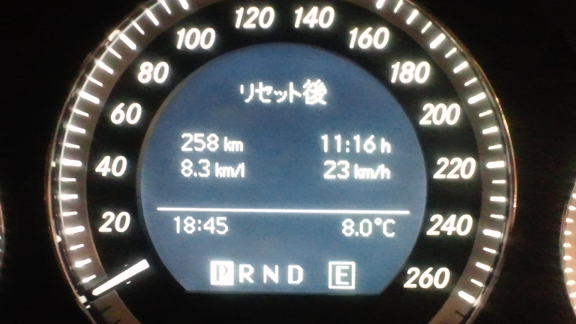 W204の給油記録 2012/02/11