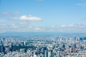 天空回廊からの富士山