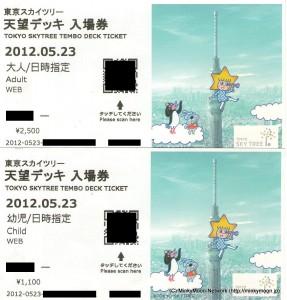 東京スカイツリーのレアチケット