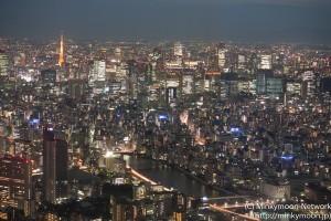 東京スカイツリー展望台からの夜景 4