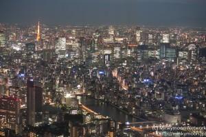 東京スカイツリー展望台からの夜景 5