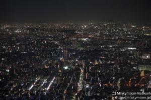 東京スカイツリー展望台からの夜景