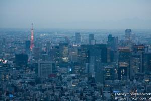 東京タワー方面