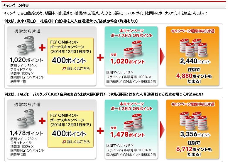 JALが国内線FOP2倍キャンペーンを期間限定で実施中!