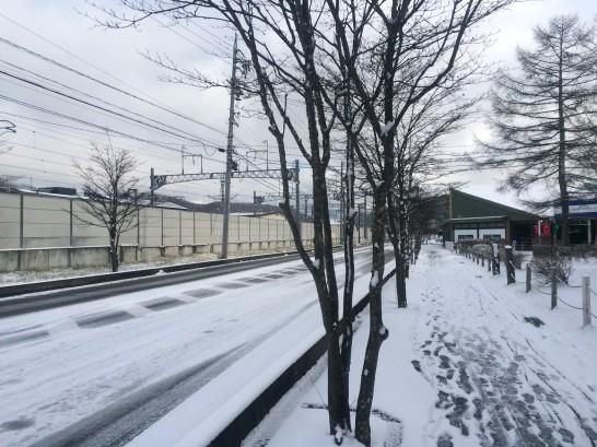 12月上旬軽井沢の積雪