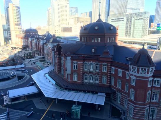 KITTEの屋上からの東京駅