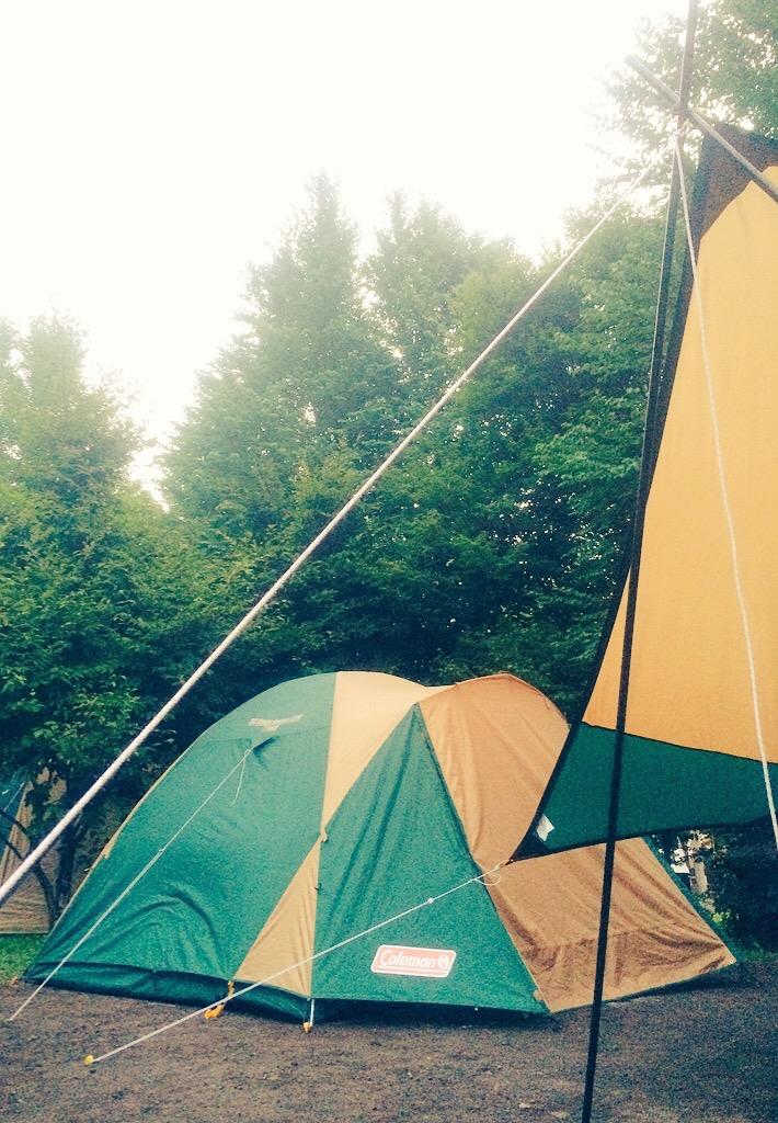 軽井沢スイートグラスで初心者キャンプ