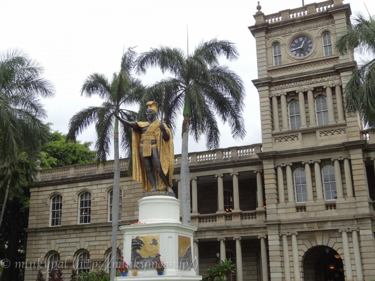 ハワイ カメハメハ大王像