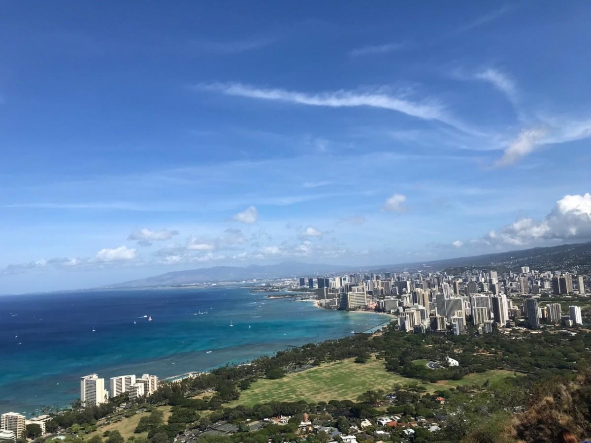 2018年夏休みハワイ旅行 ダイヤモンドヘッド登山